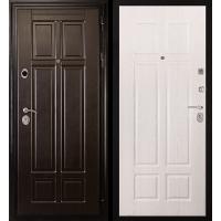 Металлическая дверь МИР ДВЕРЕЙ 07 венге/беленый дуб