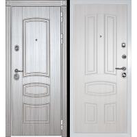 Металлическая дверь МИР ДВЕРЕЙ 42 сандал серый/сандал белый